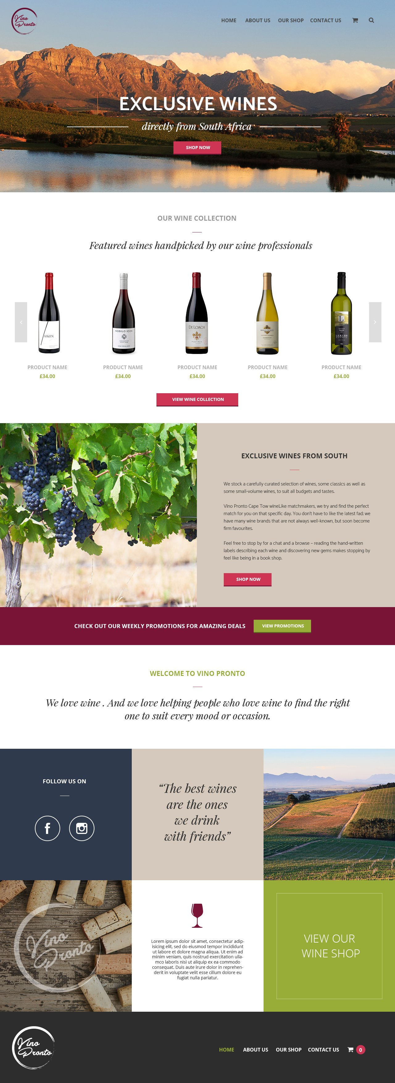 Cape Town Web design example
