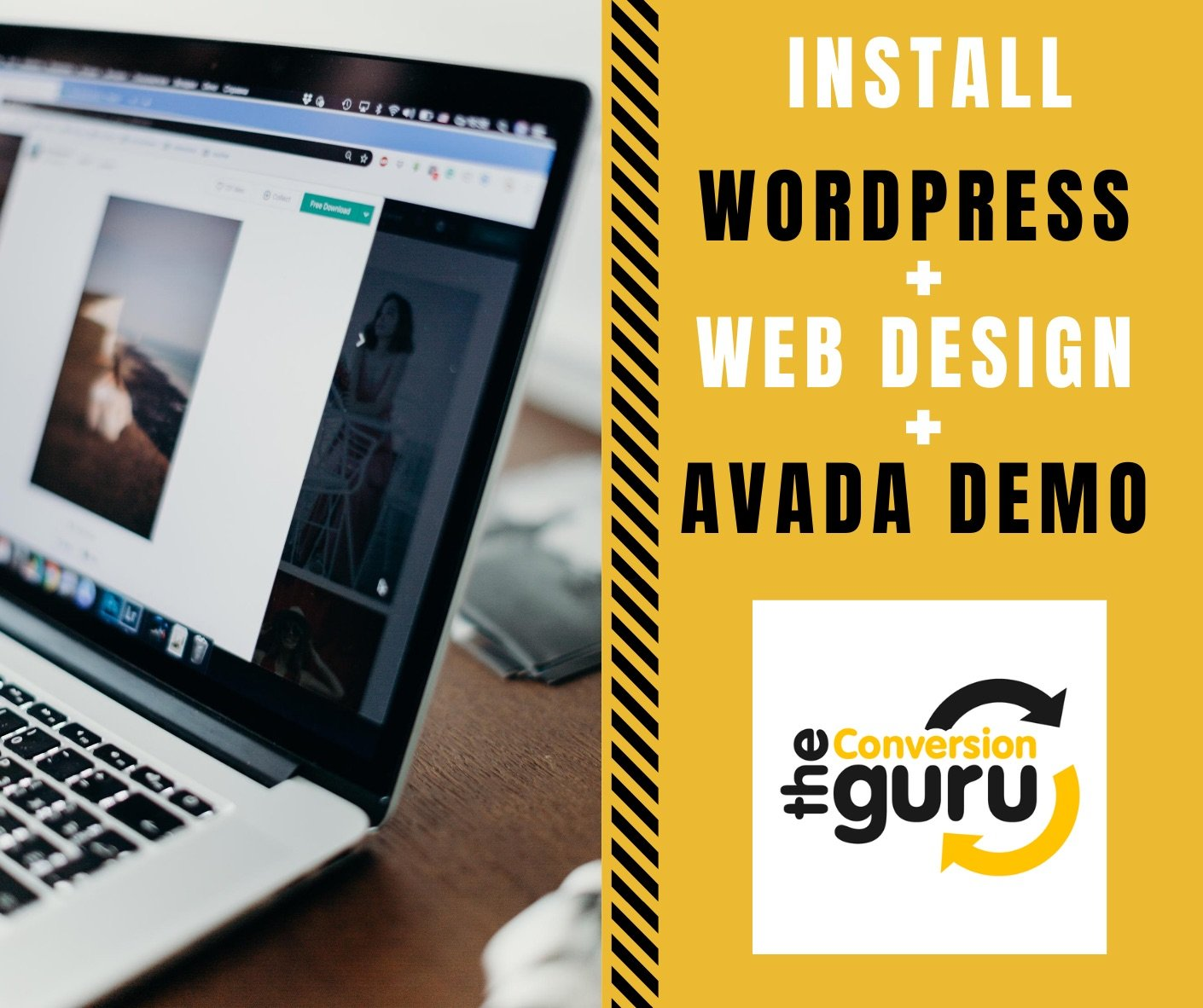 install wordpress web design avada demo installation